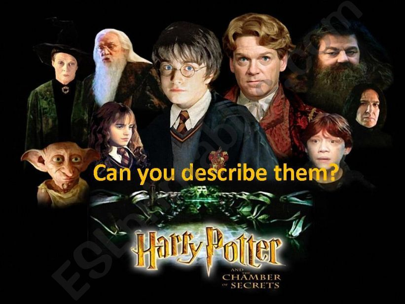 describing characters from Harry Potter and the Chamber of Secrets