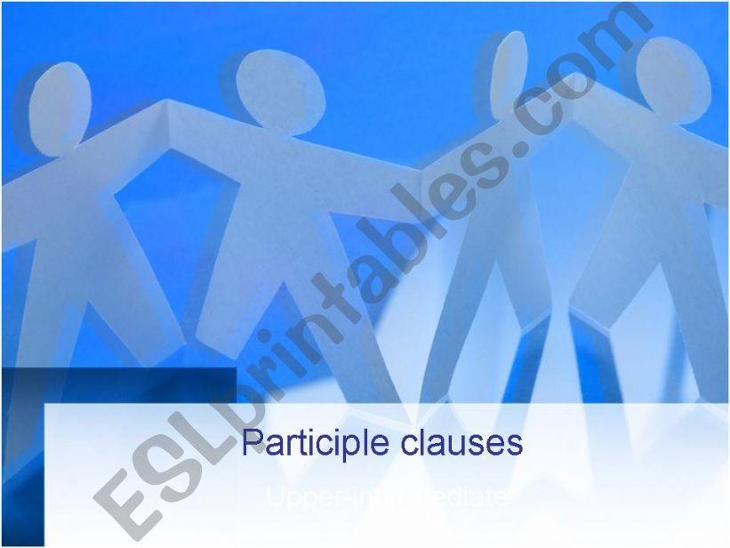 Participle clauses powerpoint