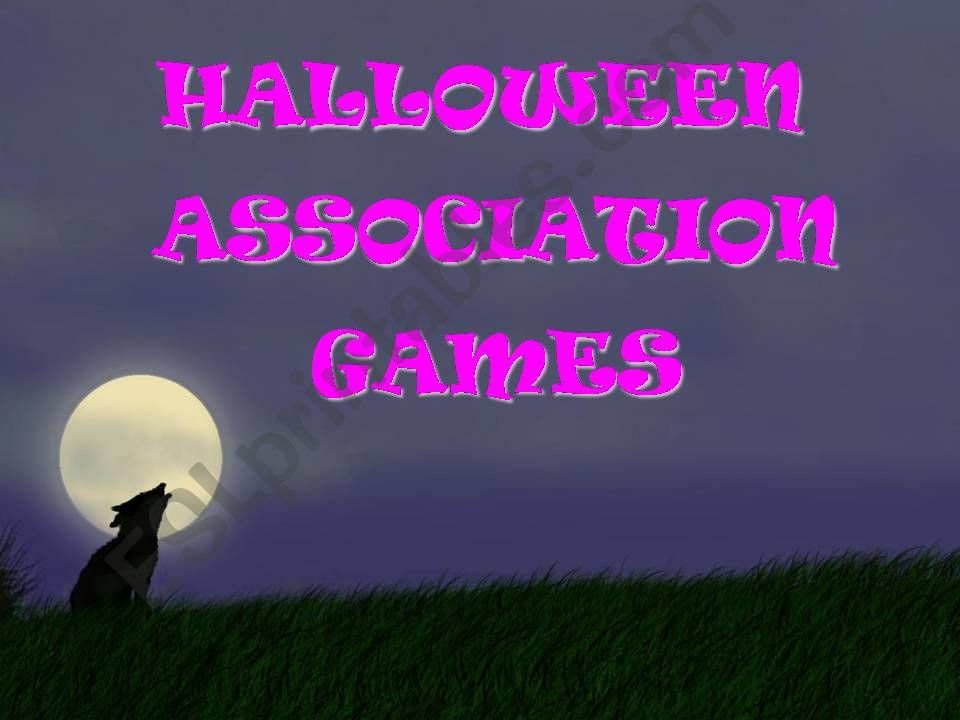 HALLOWEEN ASSOCIATION GAMES - play and learn