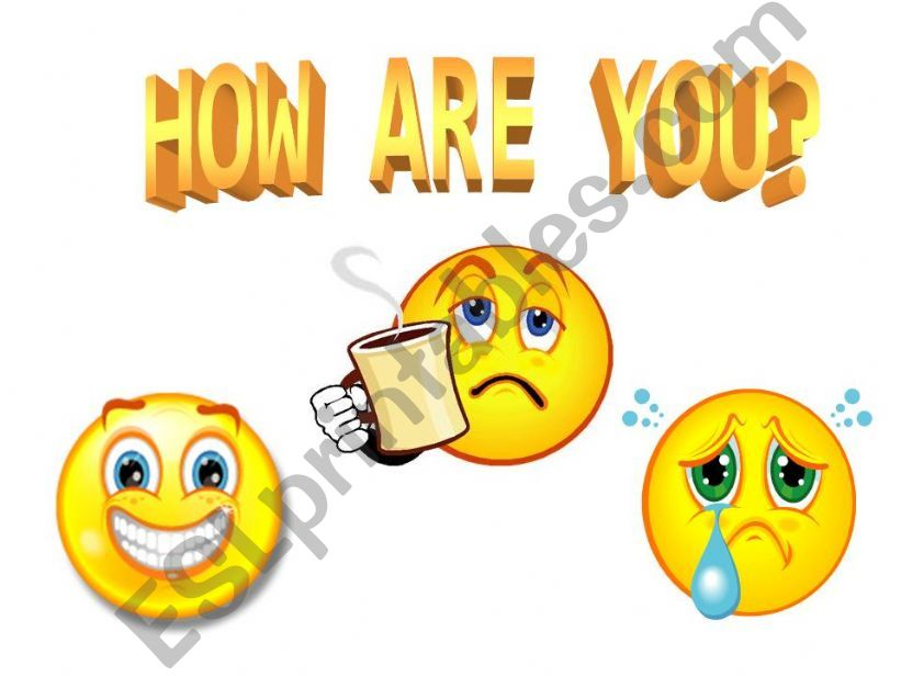 HOW ARE YOU? powerpoint