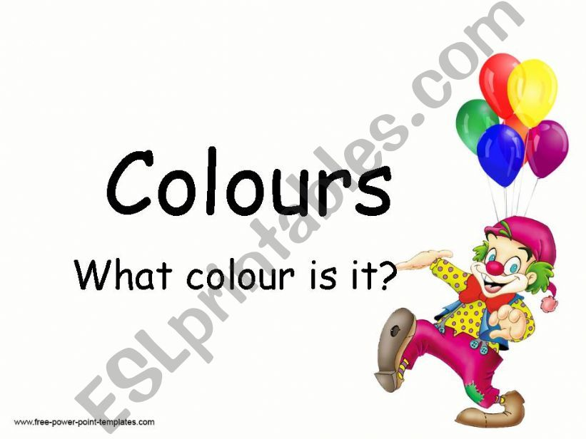 colours presentation for kids (editable)