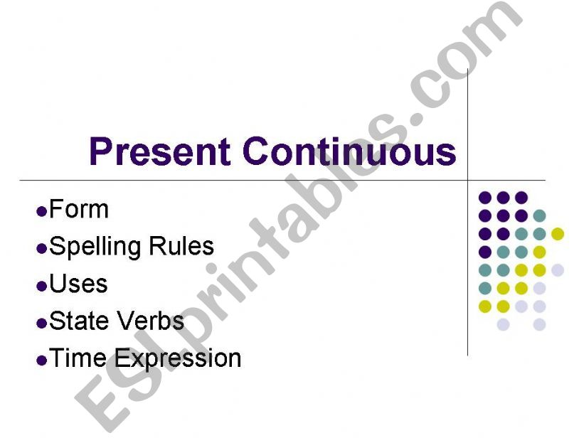Present Continuous (powerpoint presentation)