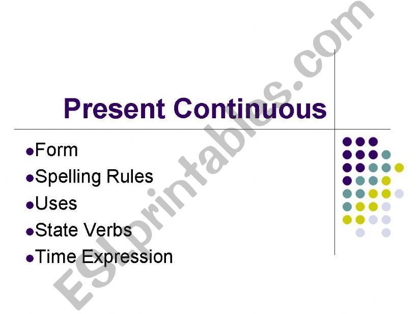 Present Continuous (powerpoint presentation)