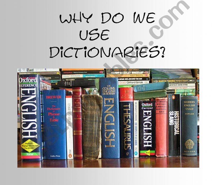 USING DICTIONARIES powerpoint