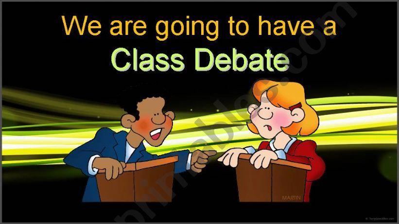 Class Debate powerpoint
