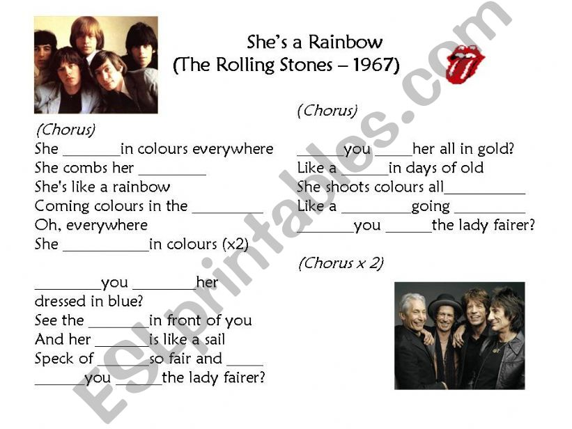 She´s a rainbow (The Rolling Stones)