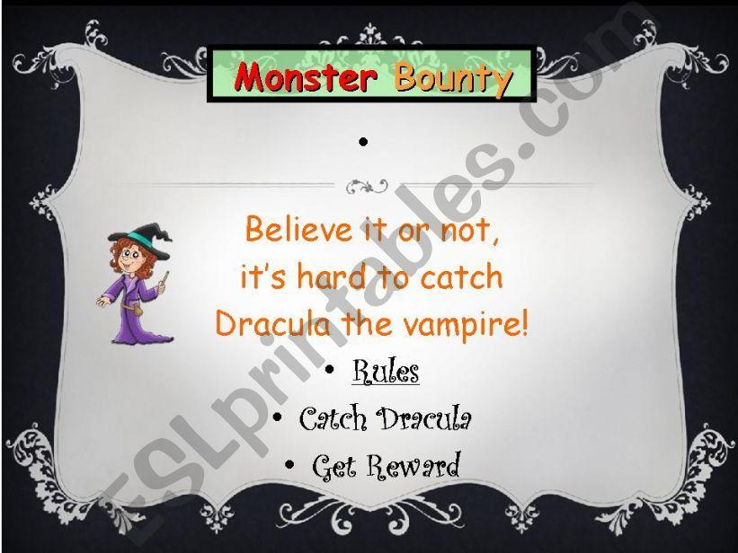 Halloween Monster Bounty Game powerpoint