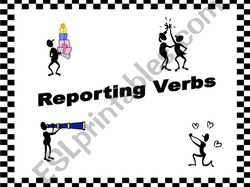 Reporting Verbs powerpoint