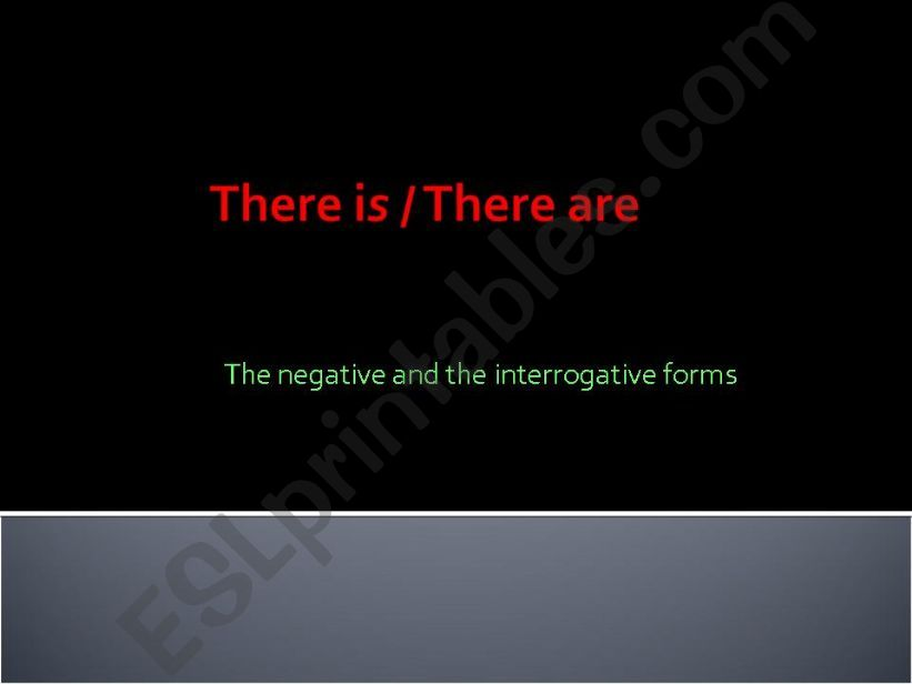 There is/There are powerpoint