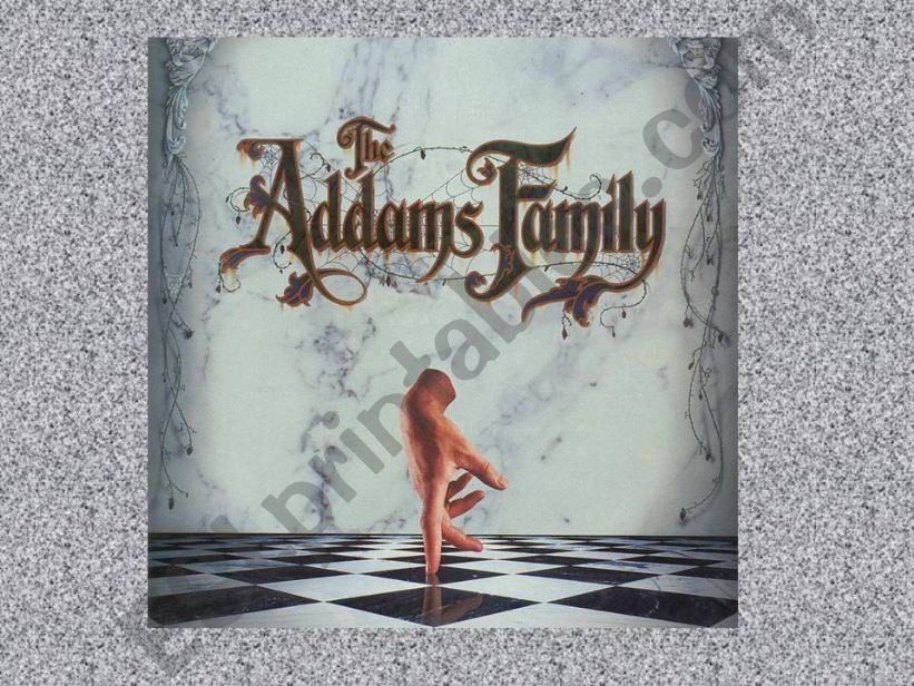 ADDAMS FAMILY GENITIVE powerpoint
