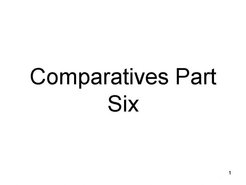 Comparatives Part Six - multi-syllable comparatives like