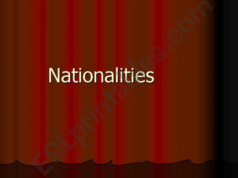 Nationalities powerpoint