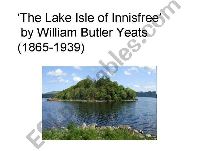 The Lake Isle of Innisfree powerpoint