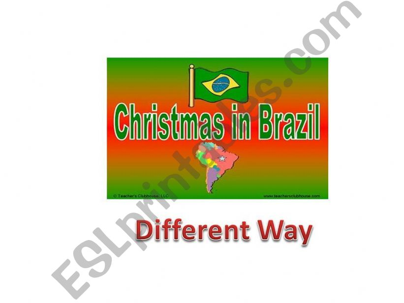 Xmas in Brazil powerpoint