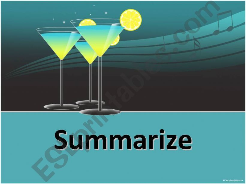 How to Summarize powerpoint
