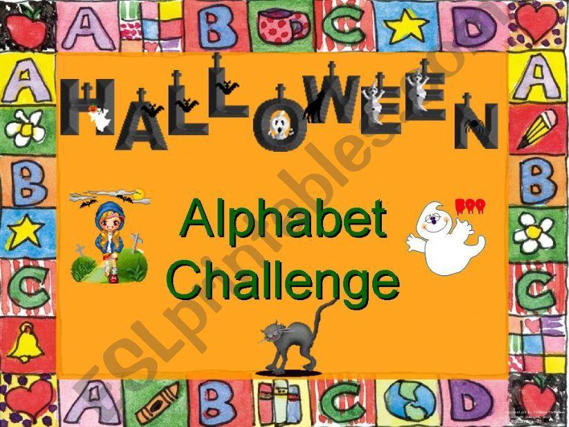 Halloween Alphabet Challenge powerpoint