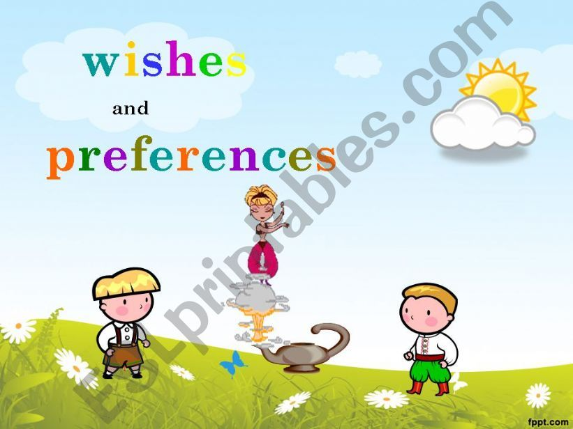 Wishes and Preferences powerpoint