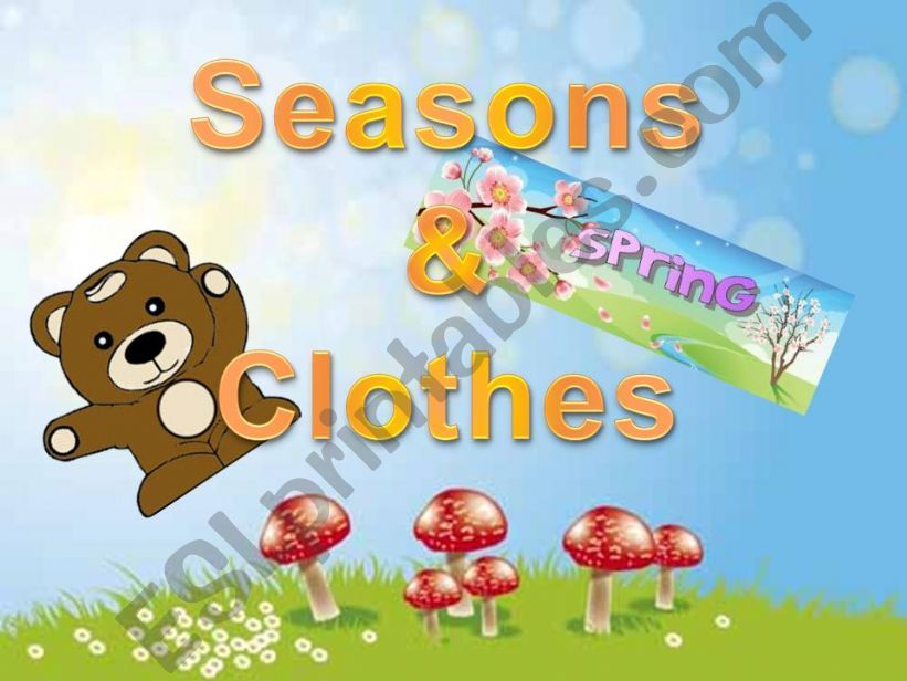 SEASONS AND CLOTHES (I) powerpoint