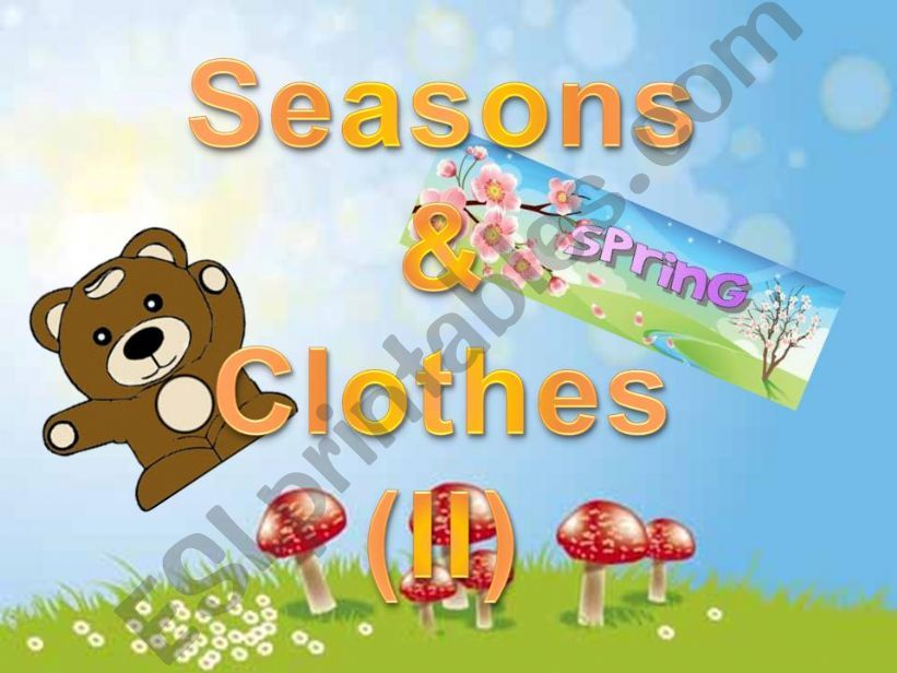 SEASONS AND CLOTHES (II) powerpoint