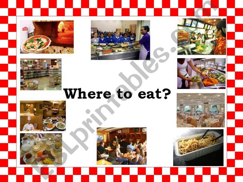 Eating Places powerpoint