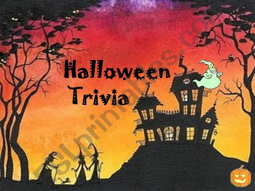 esl english powerpoints halloween trivia imagery history