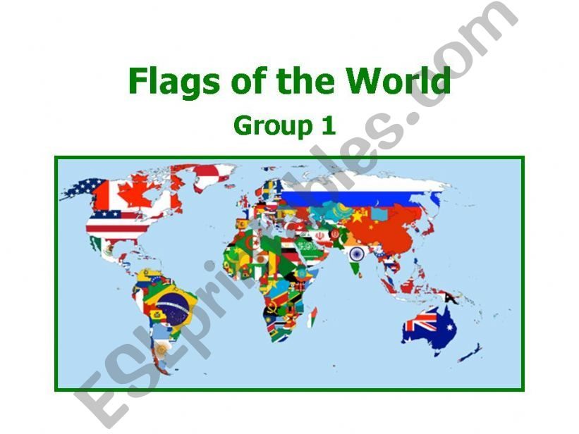 World Flags 1 powerpoint