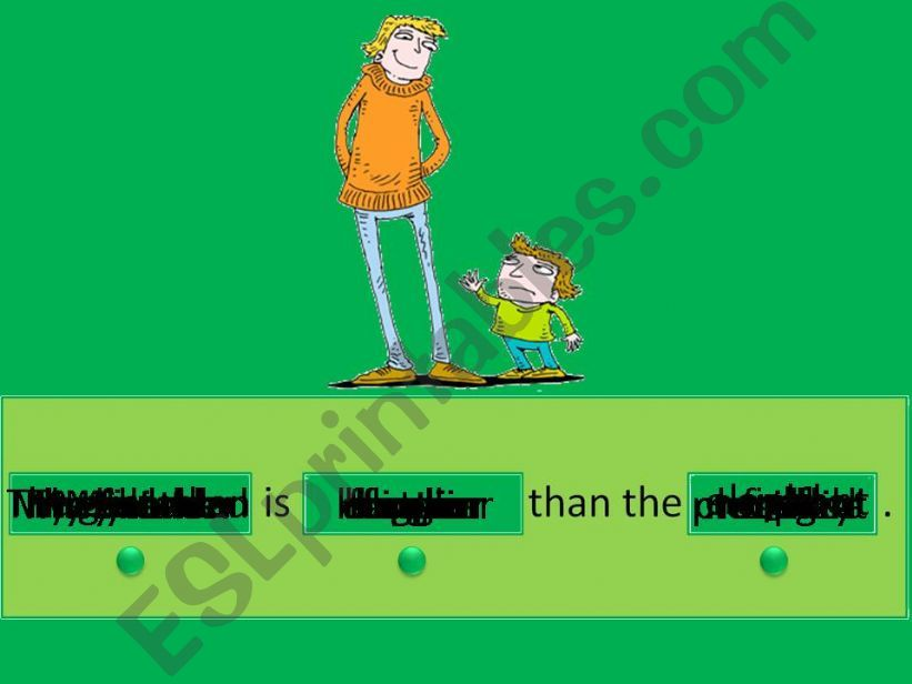Sentence Generator Comparatives