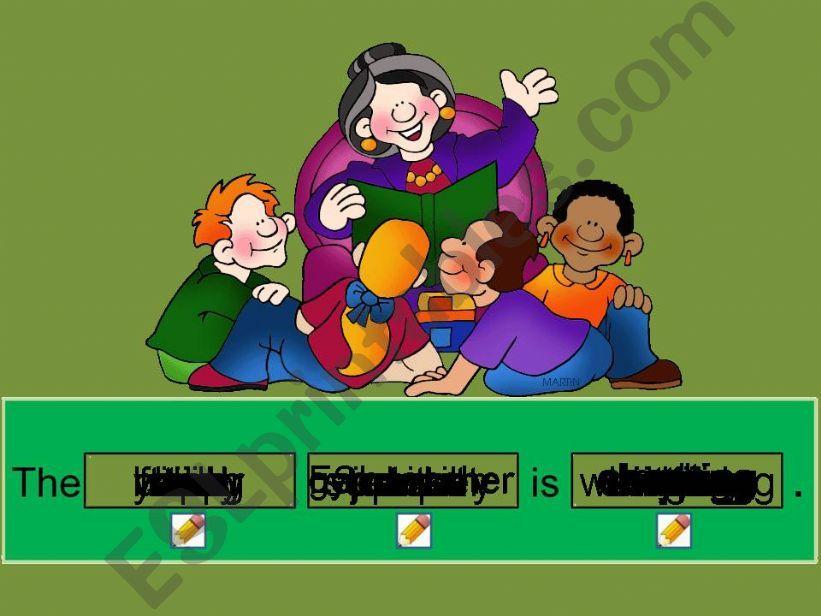 School Sentence Generator powerpoint