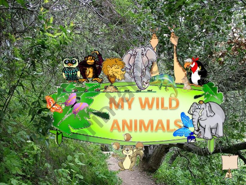MY WILD ANIMALS – Part 1 – FULLY EDITABLE, INTERACTIVE WITH SOUNDS AND ANIMATED ANIMALS