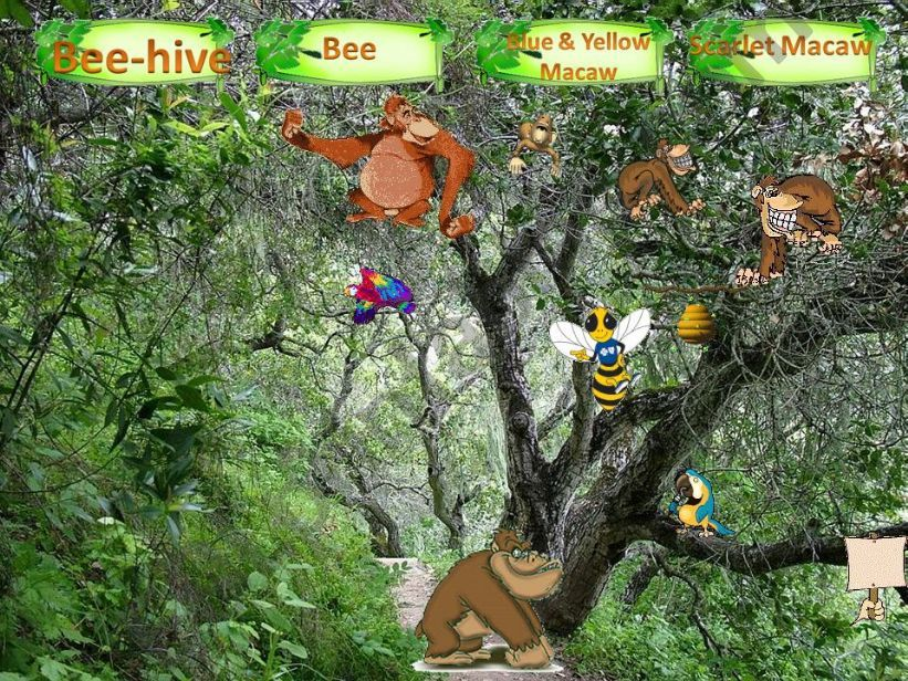 MY WILD ANIMALS – Part 2 – FULLY EDITABLE, INTERACTIVE WITH SOUNDS AND ANIMATED ANIMALS .