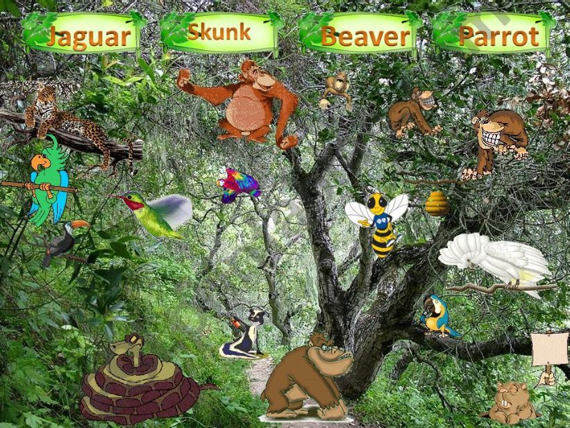 MY WILD ANIMALS – Part 3 – FULLY EDITABLE, INTERACTIVE WITH SOUNDS AND ANIMATED ANIMALS .