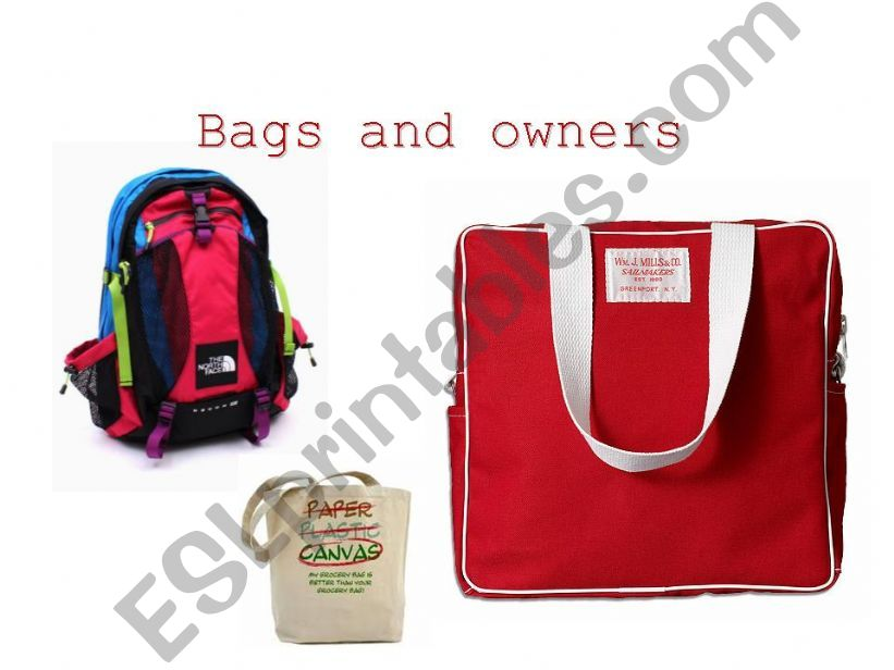 Bags and Owners  - Guessing game