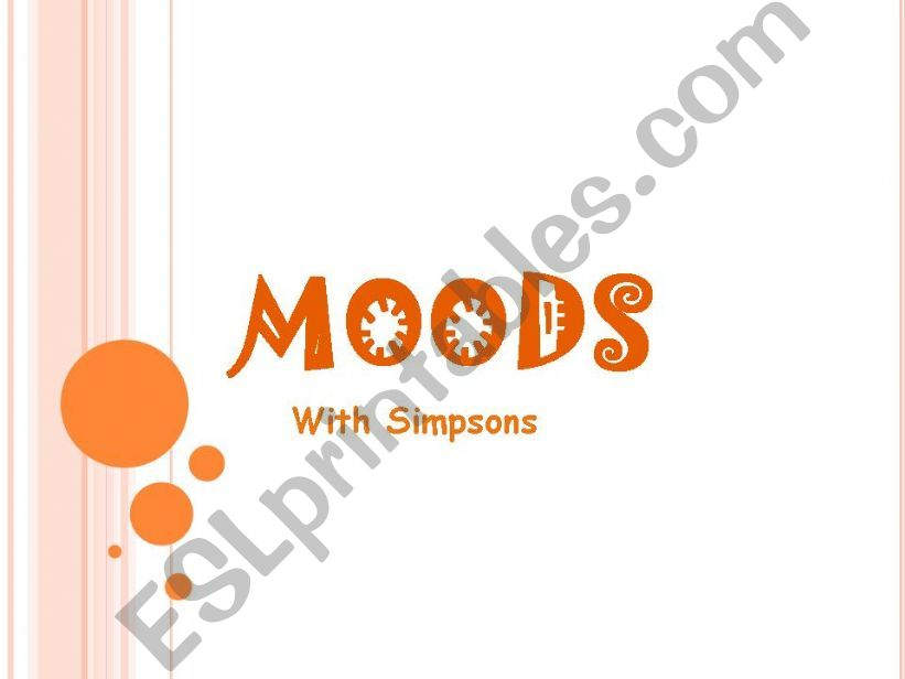 Moods with the Simpsons powerpoint