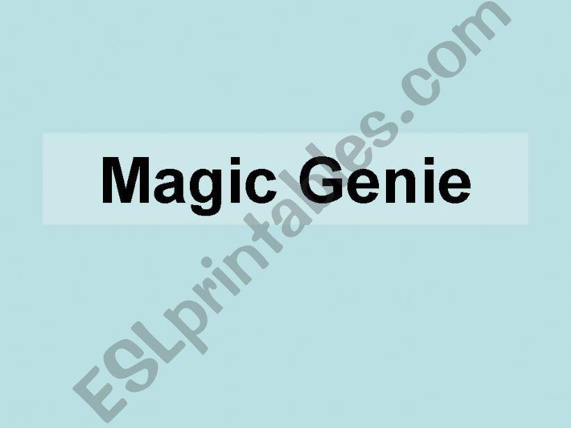Magic Genie powerpoint