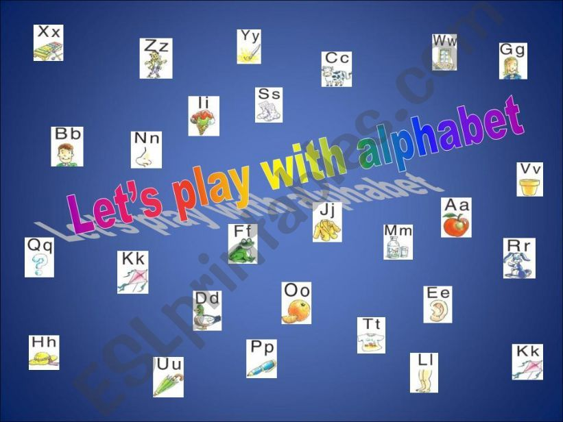LET´S PLAY WITH ALPHABET powerpoint
