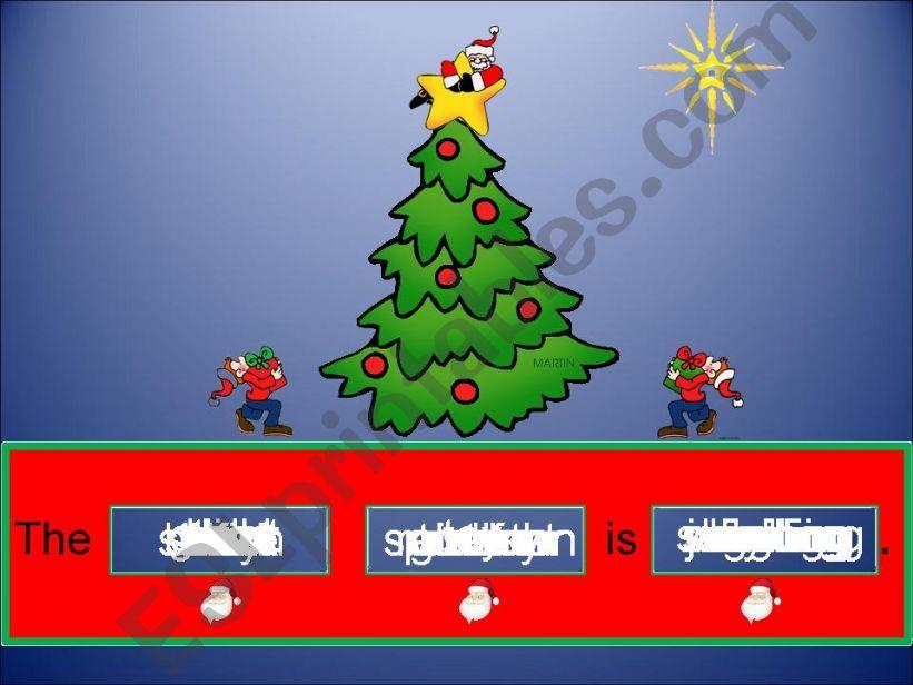 Sentece Generator Christmas powerpoint