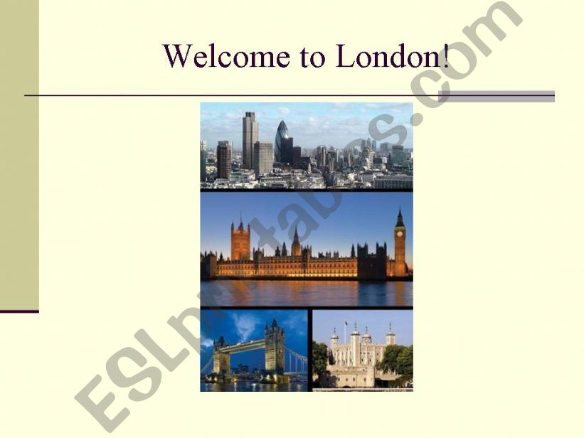 Welcome to London! powerpoint