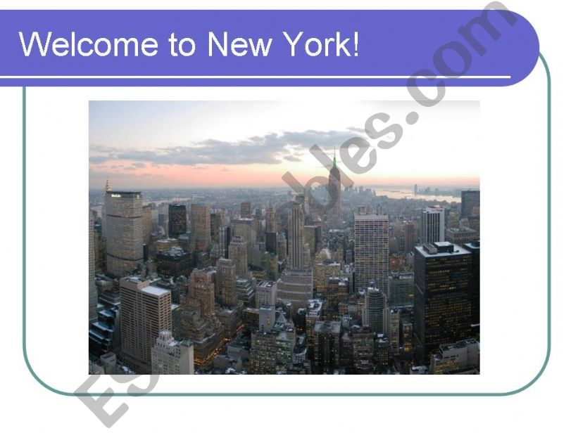 Welcome to New York! powerpoint