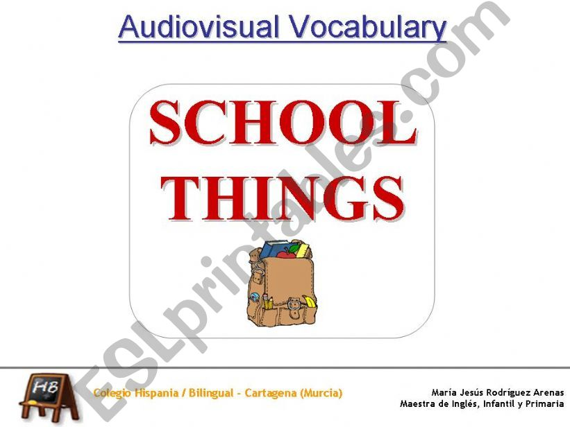 School Things - What do you keep in the...?