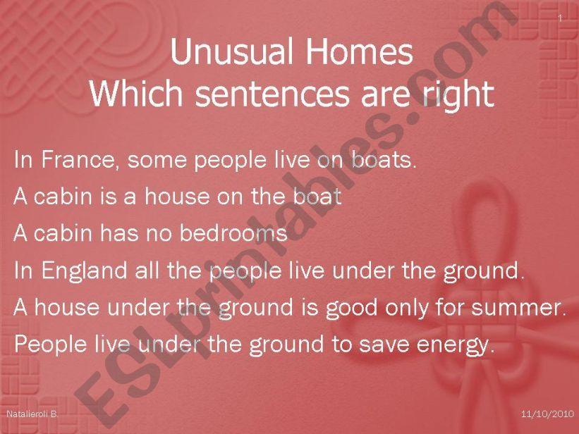 Unusual Homes part 2/2 powerpoint
