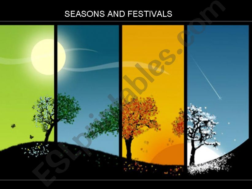 Seasons and Festivals  powerpoint