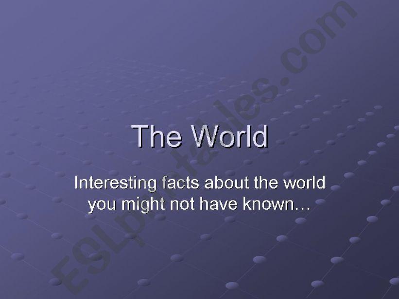 World Trivia part 1/5 powerpoint