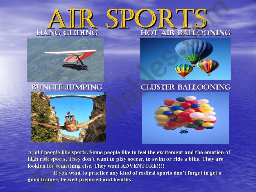 Air Sports powerpoint