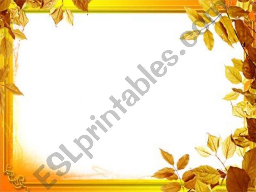 Autumn leaves powerpoint