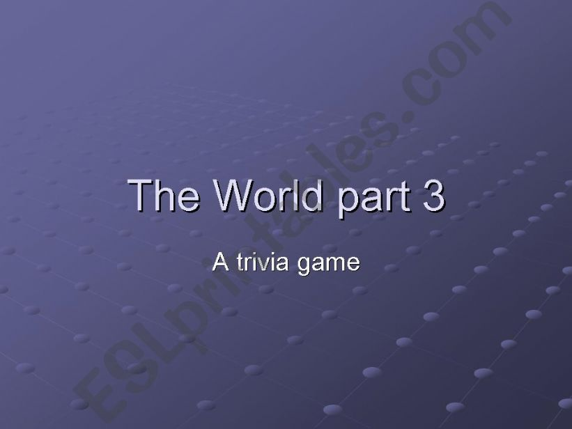 World Trivia 3/5 powerpoint