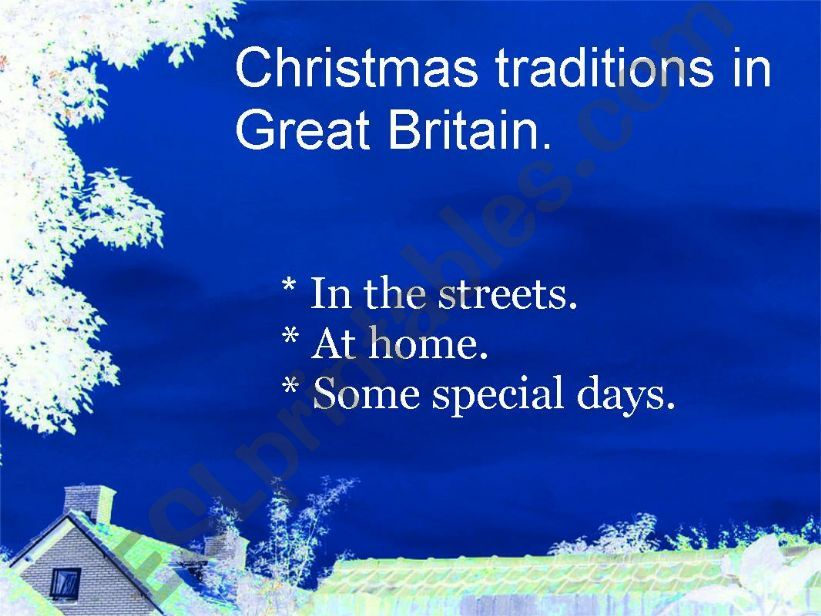Christmas traditions in Great Britain (I)
