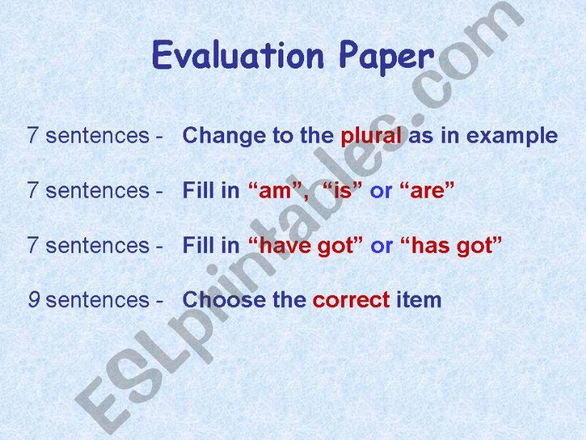Evaluation Paper - Primary Level