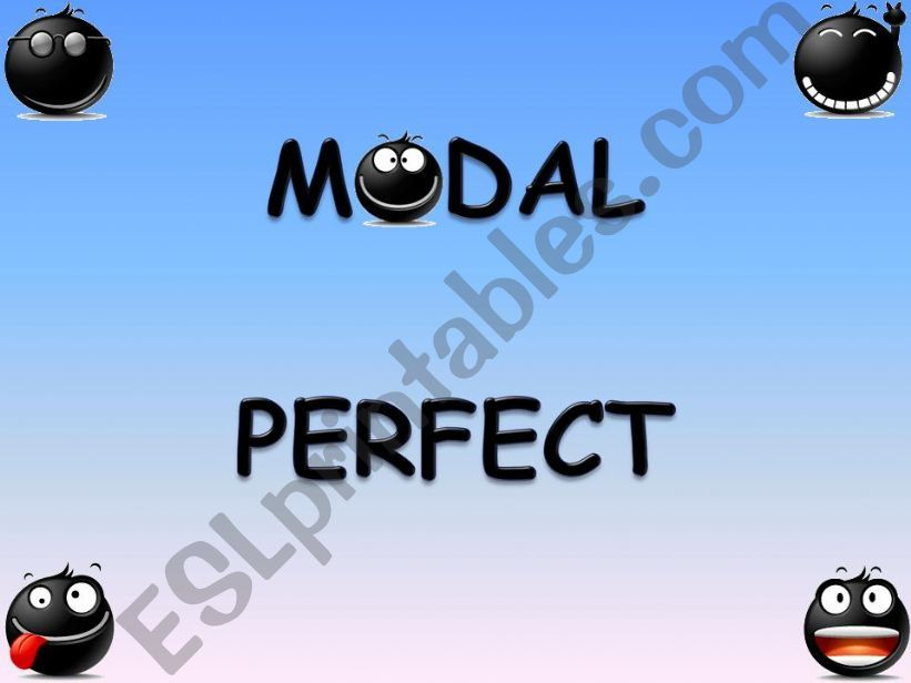 MODAL PERFECT PRESENTATION powerpoint