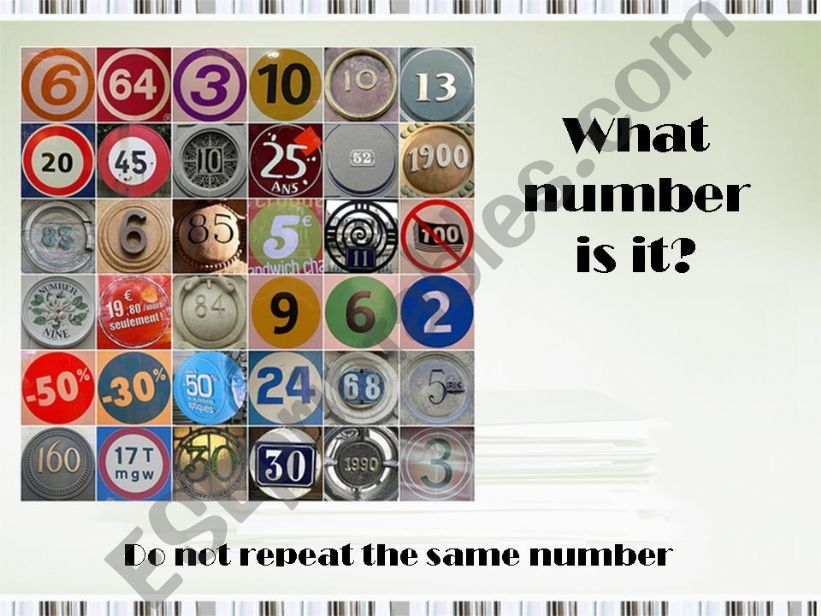What number is it? powerpoint