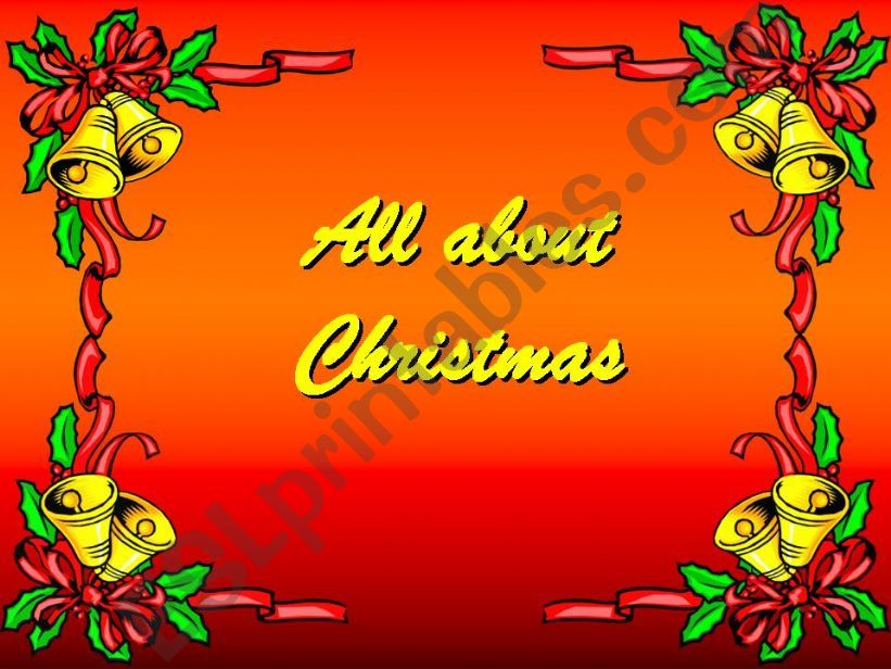 All about Christmas vocabulary presentation